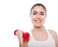 Attractive fitness girl workingout Royalty Free Stock Images