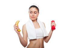 Attractive fitness girl workingout Stock Photo