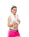 Attractive fitness girl workingout Royalty Free Stock Photo