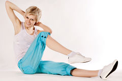 Attractive fitness woman. Royalty Free Stock Images