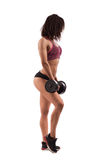 Attractive fitness woman with dumbbells Stock Photography