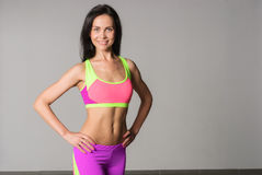Attractive fitness woman Royalty Free Stock Image