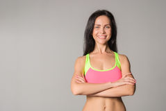 Attractive fitness woman Stock Image