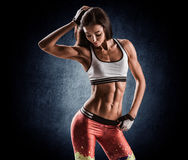 Attractive fitness woman, trained female body, lifestyle portrai Stock Photo