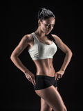Attractive fitness woman, trained female body, lifestyle portrai Royalty Free Stock Photo
