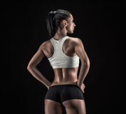 Attractive fitness woman, trained female body, lifestyle portrai Royalty Free Stock Image