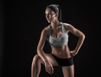 Attractive fitness woman, trained female body, lifestyle portrai Stock Image
