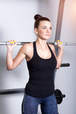 Attractive fitness woman, trained female body Royalty Free Stock Images