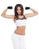 Attractive Fitness Young Woman Posing. Sports Healthy Lifestyle Royalty Free Stock Photos