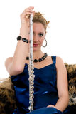 Attractive flautist Royalty Free Stock Image