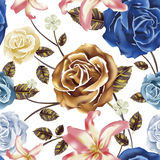 Attractive floral seamless background Royalty Free Stock Images