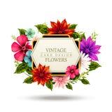 Attractive floral vintage card design Royalty Free Stock Photos