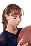 Attractive Football Fan Stock Images