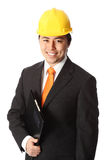 Attractive foreman in hardhat Royalty Free Stock Image
