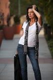 Attractive forties brunette caucasian woman Stock Photo