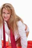 Attractive forties caucasian blonde woman Royalty Free Stock Photo