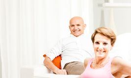 Attractive friendly middle-aged couple Royalty Free Stock Photography