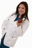Attractive friendly thirties hispanic woman doctor Stock Image