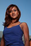 Attractive friendly twenties Indian brunette woman Stock Image