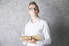 Attractive gentleman with notepad Stock Photo