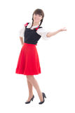 Attractive german girl in dirndl Stock Images