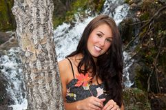 Attractive girl in Autumn Royalty Free Stock Photos