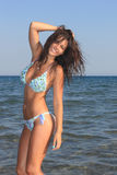 Attractive girl on the beach Royalty Free Stock Images