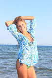 Attractive girl on the beach Stock Photography