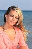 Attractive girl on the beach Royalty Free Stock Photos