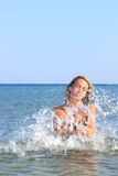 Attractive girl on the beach Stock Photo