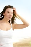 Attractive girl on the beach Stock Images