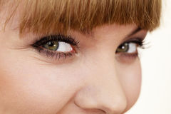 Attractive girl beauty female eyes closeup Royalty Free Stock Photography