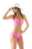 Attractive girl in a bikini Stock Images