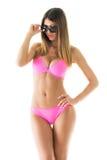 Attractive girl in a bikini Royalty Free Stock Image