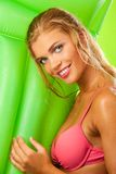Attractive girl in bikini smiling Stock Photo
