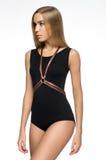 Attractive girl in black bodysuit Royalty Free Stock Photos