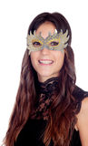 Attractive girl with a carnival mask Royalty Free Stock Photos