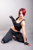 Attractive girl dancer. Portrait of attractive girl dancer royalty free stock photo