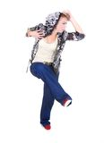 Attractive girl dancing hip hop Royalty Free Stock Photo