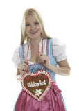 Attractive Girl with Dirndl Royalty Free Stock Photography