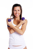 Attractive girl doing fitness exercises Royalty Free Stock Photography
