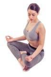 Attractive girl doing yoga royalty free stock photos
