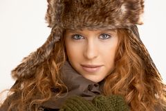 Attractive girl dressed for winter fun Royalty Free Stock Photos