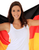 Attractive girl with german flag Stock Photography