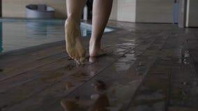 Woman in Swimming Pool stock video