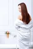 Attractive girl going to take a bath Royalty Free Stock Photo