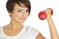 Attractive girl at the gym Stock Images
