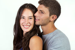 Attractive girl and her boyfriend Royalty Free Stock Photo