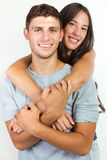Attractive girl and her boyfriend Stock Image