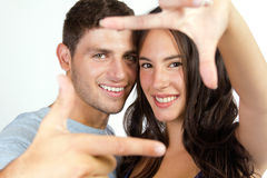 Attractive girl and her boyfriend Stock Images